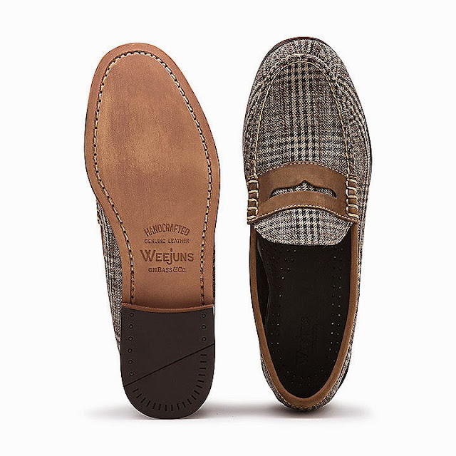 Glen Plaid Penny Loafers