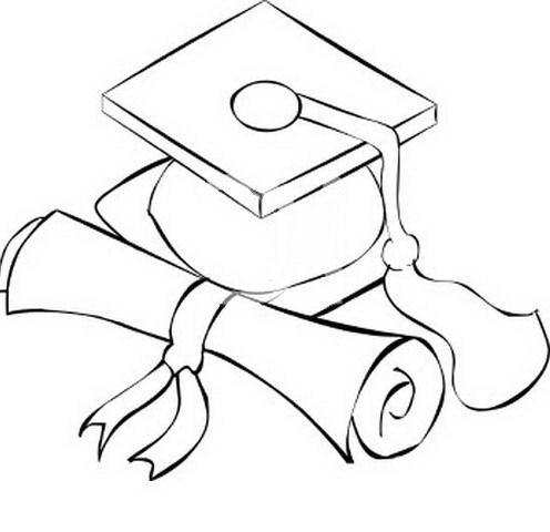 Bonetes de graduación para colorear - Imagui