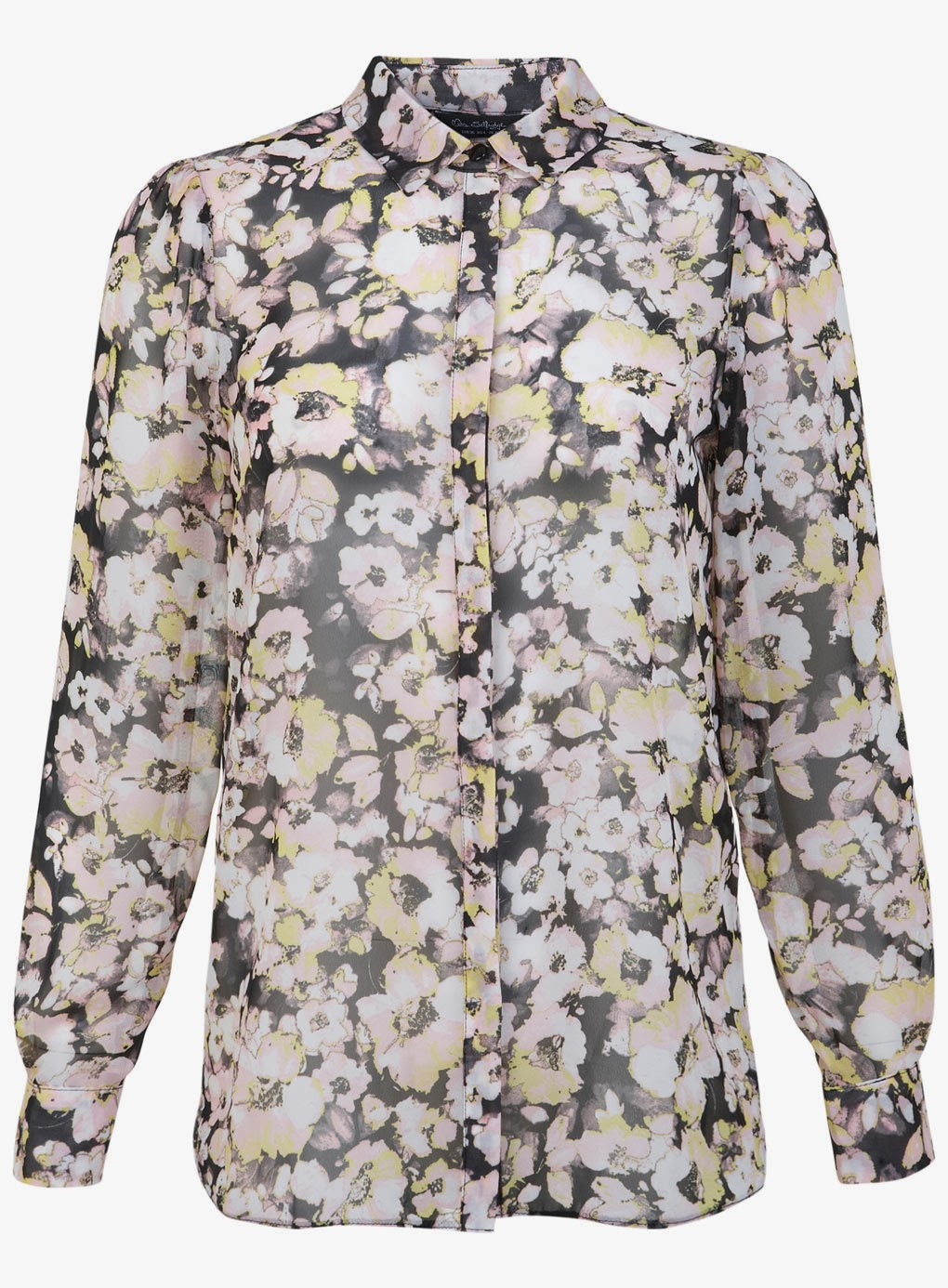 miss selfridge floral shirt