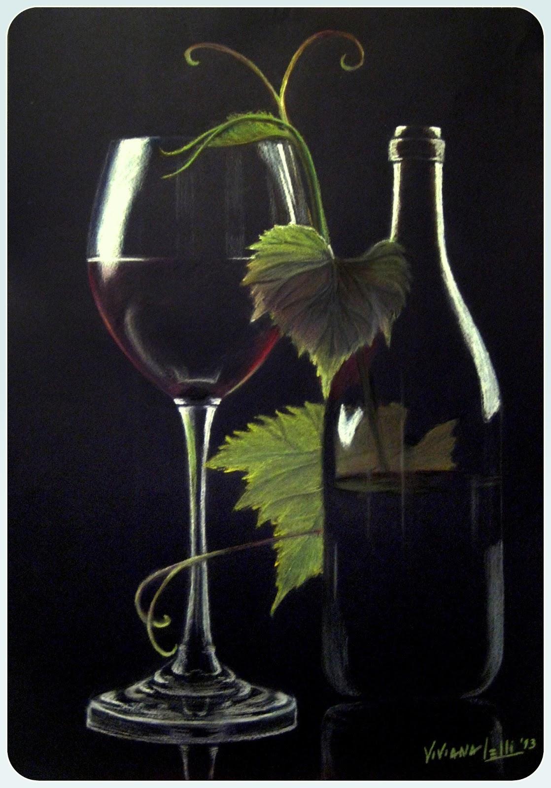 Mis dibujos y pinturasCopa de vino