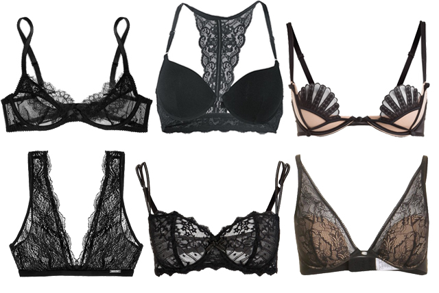 black lace bras