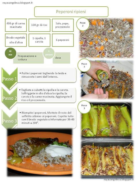 il ricettario da stampare - peperoni ripieni