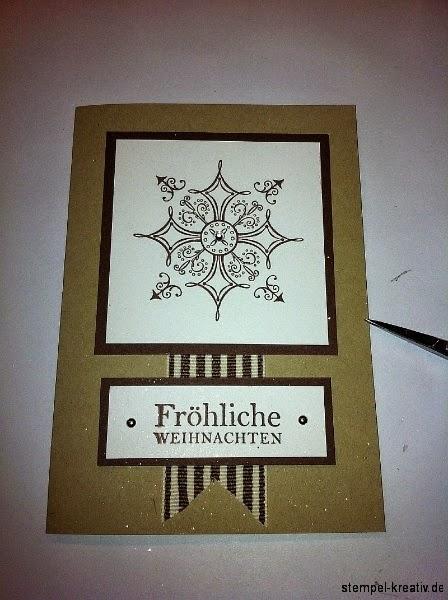 Weihnachtskarte Serene Snow flakes Stampin up