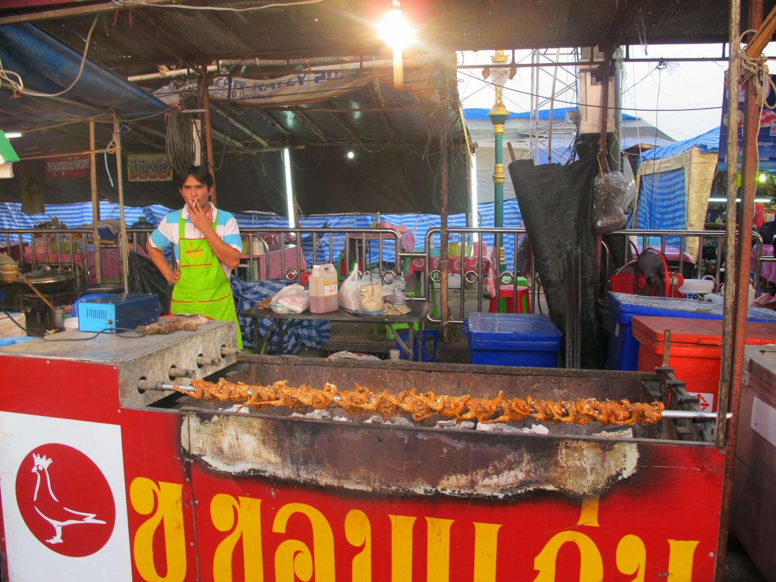roasted quail, weird food, thai food, thai street food