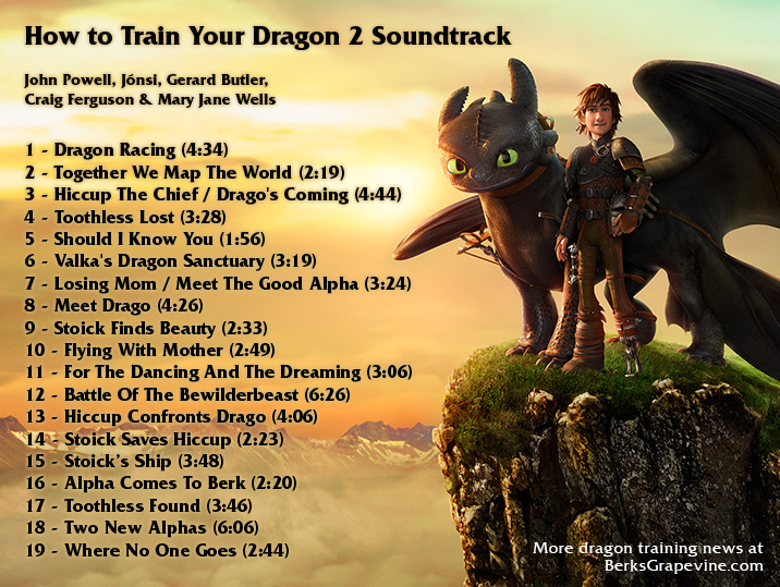 Three cues from the score berks grapevine check out these three new cues from the how to train your dragon 2 soundtrack you may be familiar with the thirdthats the one that was playing during the ccuart Image collections