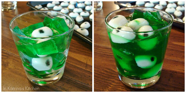 Creepy Peepers Halloween Jell-O Tutorial from @KatrinasKitchen