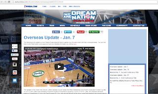 Son saniyeler WNBA'nin resmi sitesinde..