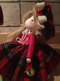 bambola pasta mais natalizia