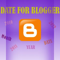 How To Show Current Date On Blogger Blog?