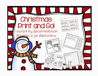 http://www.teacherspayteachers.com/Product/Christmas-Print-and-Go-for-first-grade-1003558