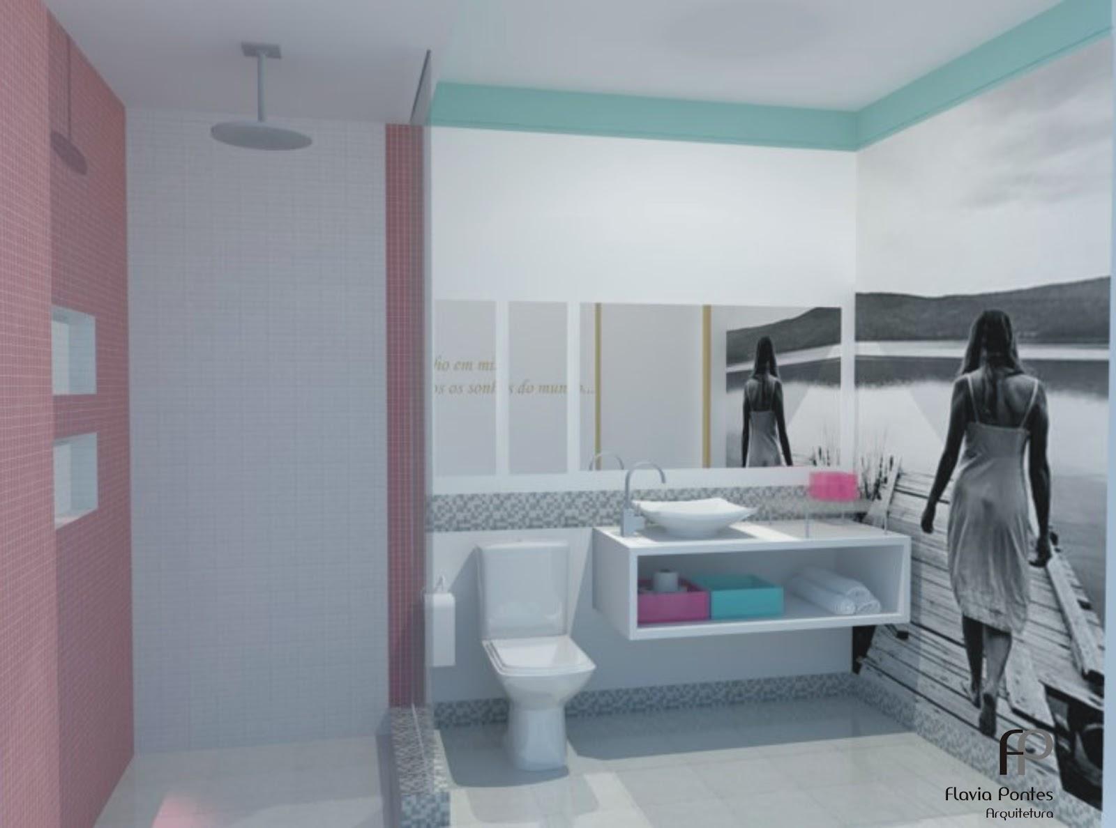 paleta de cores deste banheiro foram: Azul claro (Azul céu Marca  #7E4D66 1600x1188 Banheiro Azul E Branco