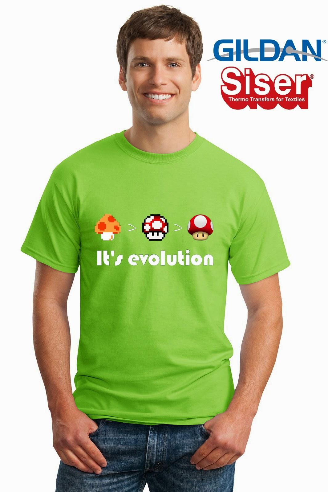 Niescha T Shirt Kaos Jamur Mario
