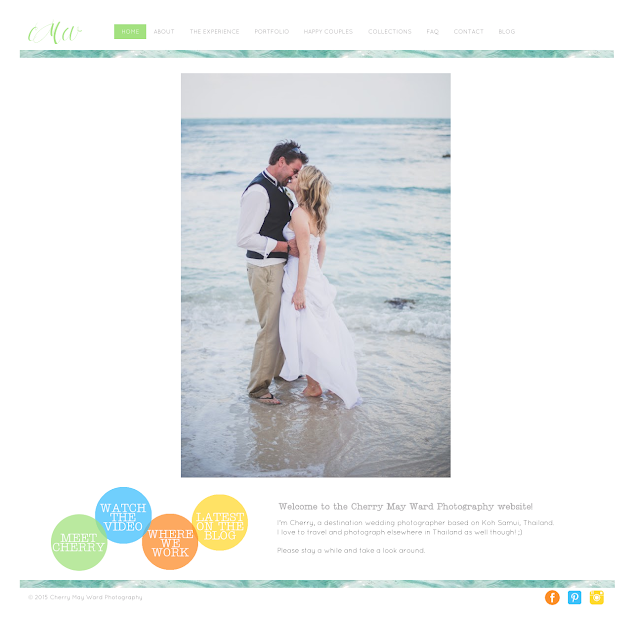 Cherry May Ward Photography website, Koh Samui wedding photographer, www.cherrymayward.com