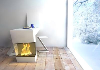 mesa cocina chimenea
