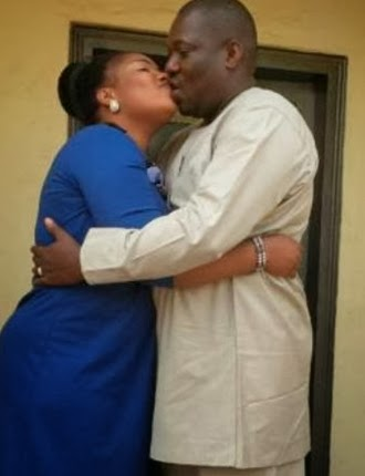 laide bakare kissing husband