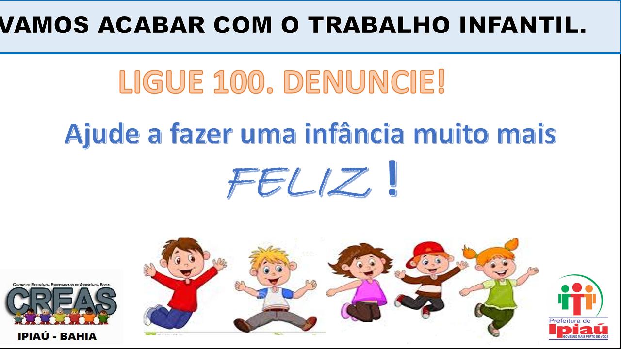 CAMPANHA TRABALHO INFANTIL