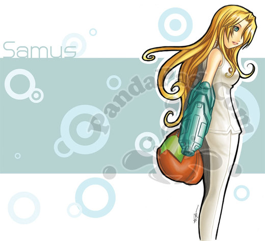 Metroid Samus por GenevieveGT