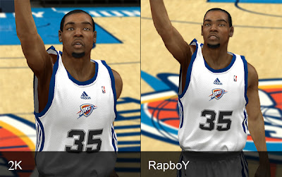 Kevin Durant of Oklahoma City Thunder Cyberface for NBA 2K13 PC