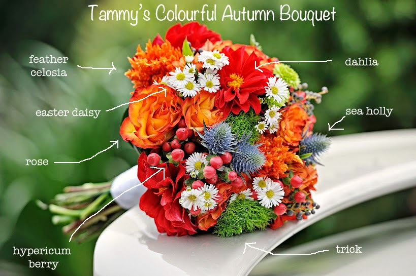 I am a woman in love bridal inspiration fall wedding flowers fall wedding flowers junglespirit Image collections