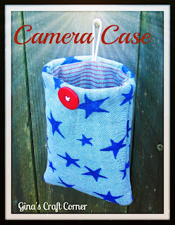 Upcycled Blue Jean Camera Case
