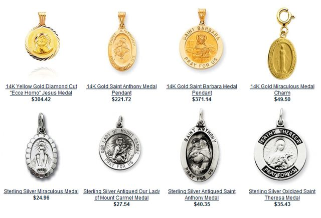 Selection Gold Patron Saint Medals