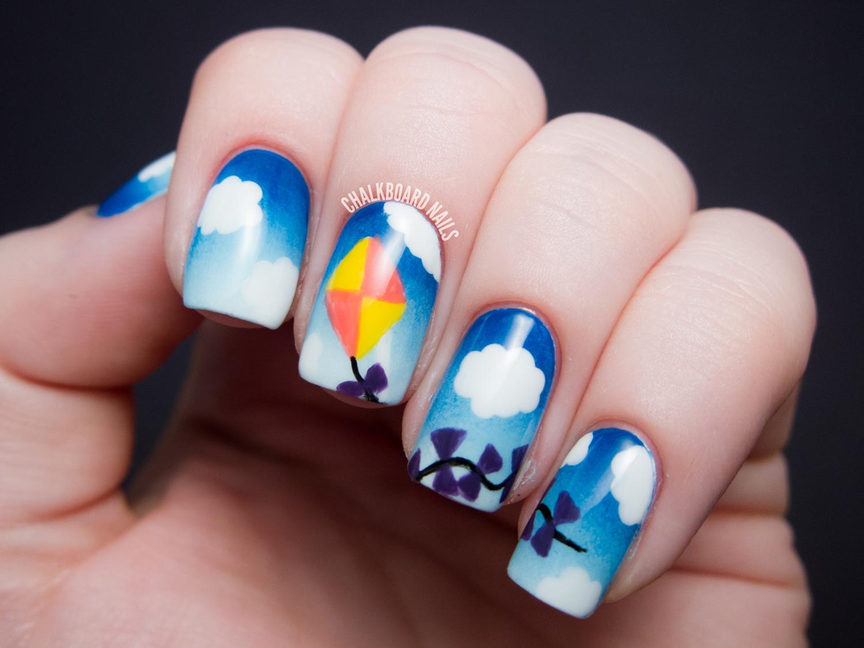 Let\'s Go Fly a Kite! | Chalkboard Nails | Nail Art Blog