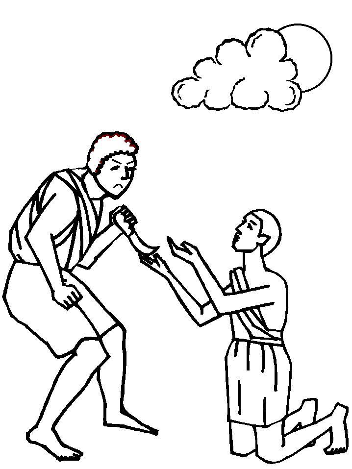 Caín y Abel, dibujos para colorear | pintar y jugar
