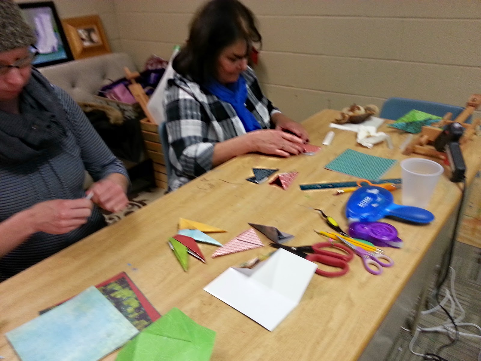 3D Christmas paper crafts class Dec 2014