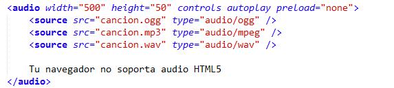 implementación de audio en HTML5 compatible con todos los browsers