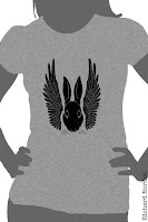 winged rabbit stencil