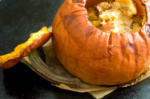 Stuffed pumpkin with cheese, bacon and chipotle chiles | Homesick ...