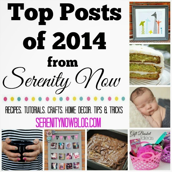 List of some great crafts, recipes, home decor projects, and tips & tricks from Serenity Now in 2014