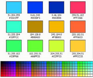 colour code html lengkap