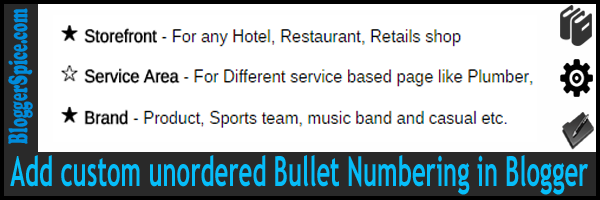 bullet numbering