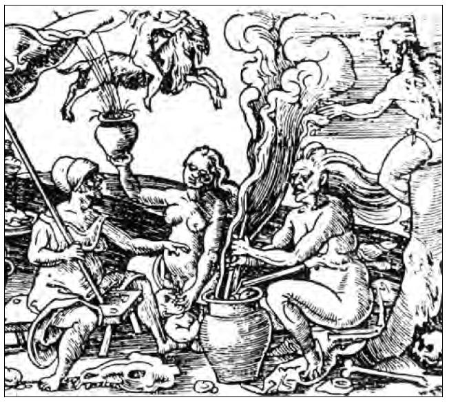 Resultado de imagen para representaciones de las brujas en la epoca colonial america