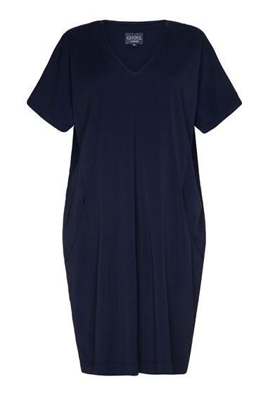 Ghost Lexi Dress Indigo Blue