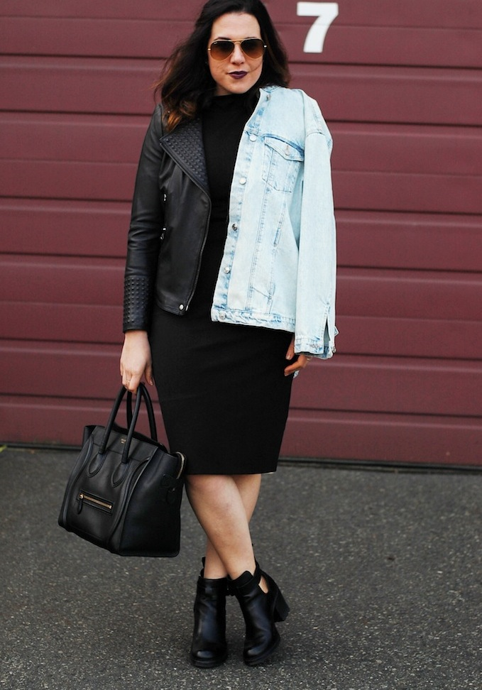 Zara leather jacket outfit