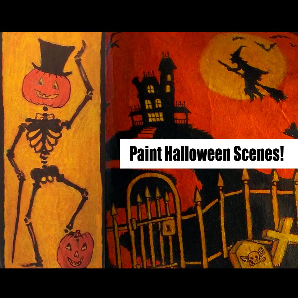 Halloween Scenes to Paint to Paint Halloween Scenes