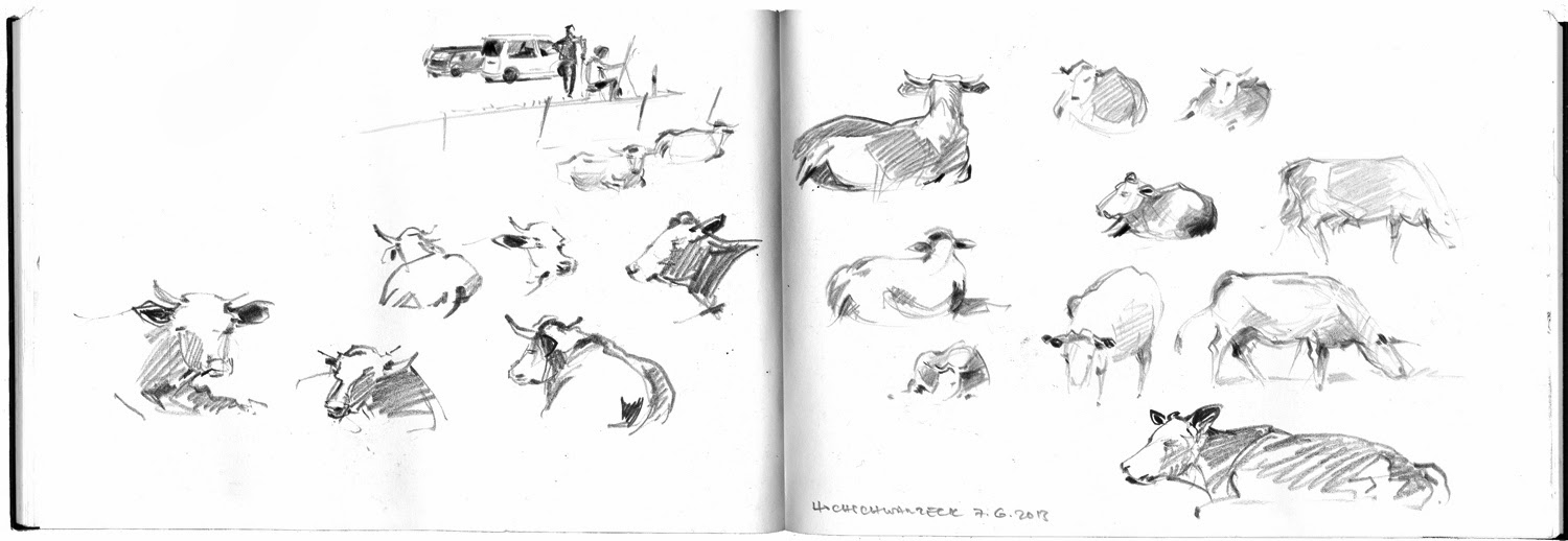 sketching artists - drawings by Albrecht Rissler