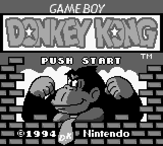 Donkey Kong Game Boy title screen
