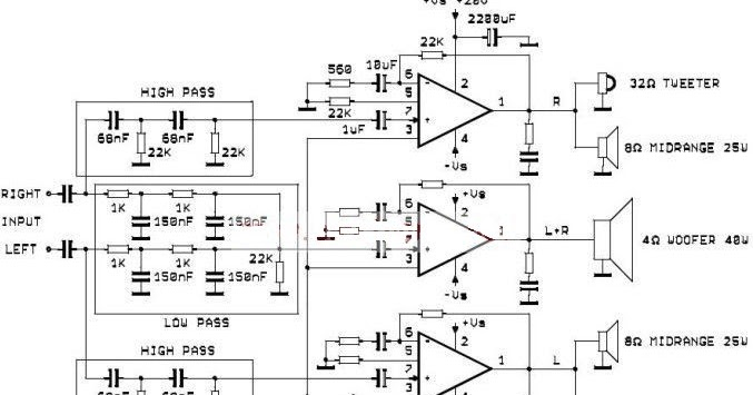 active audio system use three tda2052