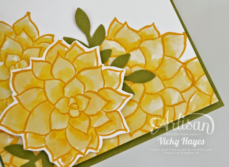 Watercoloured flowers using Nature's Perfection by Stampin' Up