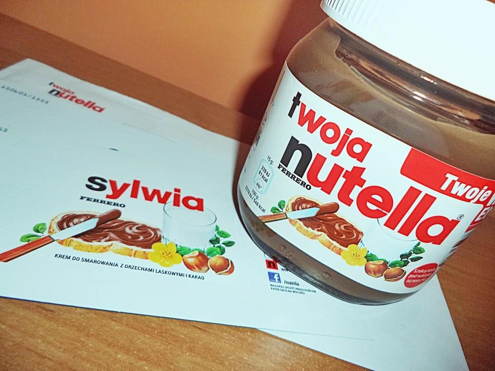 Promocja etykiet Nutella