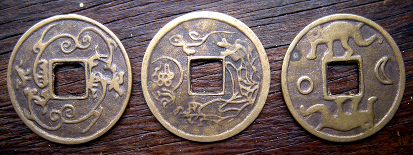 Chinese Qing Dyasty Brass Coins