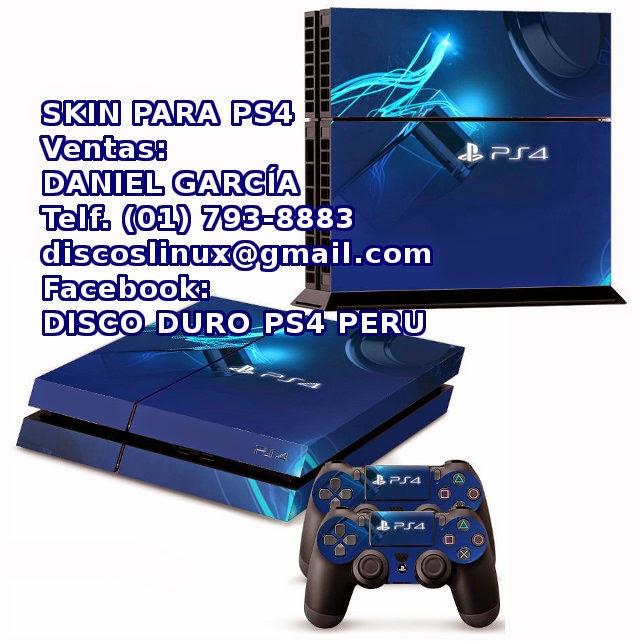 Skin para PS4 en Lima Peru, sticker autoadhesivo protector para Playstation 4.  Skin para consola y mandos de PS4 en Peru,  stock en Lima, Venta oferta