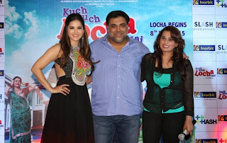 Actress Sunny Leone Pictures in Long Dress at Kuch Kuch Locha Hai Promotion  35.JPG