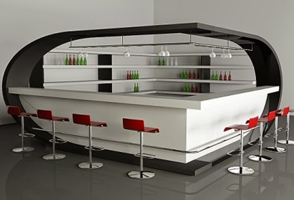 Dise os de bares para decorar colores en casa for Bar de madera para casa modernos