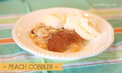 Frozen Peach Cobbler With Cake Mix
