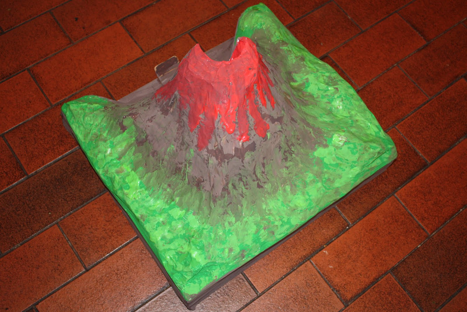 In all honesty how we made a 3d cross section volcano lizzy used red cellophane to make the lava in the middle of the volcano ccuart Gallery
