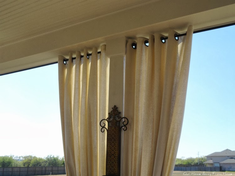 Curtains Ideas curtains made from painters drop cloths : Our Home Away From Home: NO SEW OUTDOOR DROP CLOTH CURTAINS WITH ...